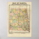 Map of Dakota Poster