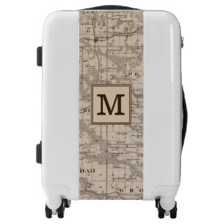 Map of Davis County, State of Iowa | Monogram Luggage
