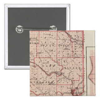 Map of Dearborn County with Greendale Pin