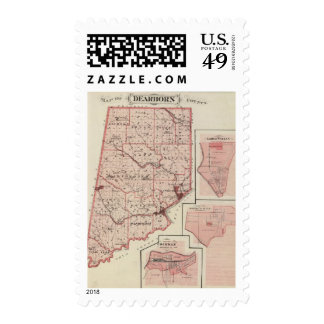 Map of Dearborn County with Greendale Stamp