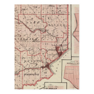 Map of Dearborn County with Greendale Postcard