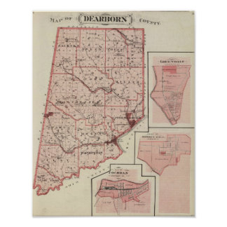 Map of Dearborn County with Greendale Posters