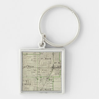 Map of Decatur City, and Sullivan and Macon Keychain