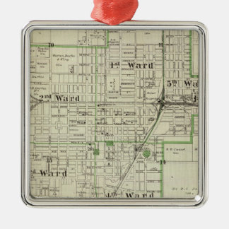 Map of Decatur City, and Sullivan and Macon Metal Ornament
