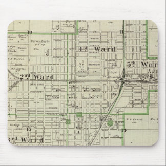 Map of Decatur City, and Sullivan and Macon Mouse Pad