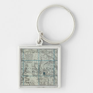 Map of Decatur County, State of Iowa Keychain