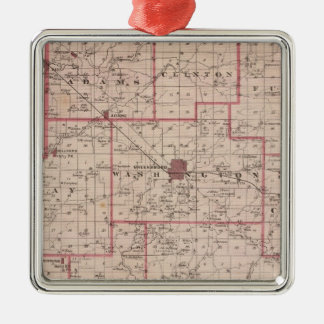 Map of Decatur County with St Omer Metal Ornament