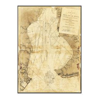Map of Delaware Bay, Delaware (1779) Canvas Print