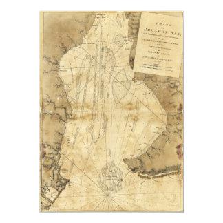 Map of Delaware Bay, Delaware (1779) Card
