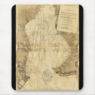 Map of Delaware Bay, Delaware (1779) Mouse Pad