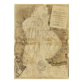 Map of Delaware Bay, Delaware (1779) Poster