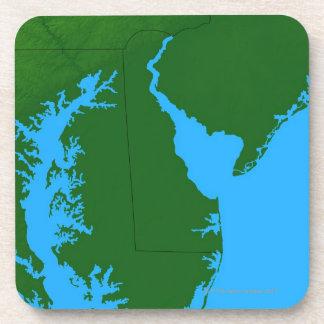 Map of Delaware Beverage Coaster