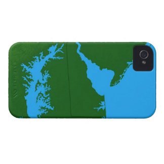 Map of Delaware Case-Mate iPhone 4 Cases