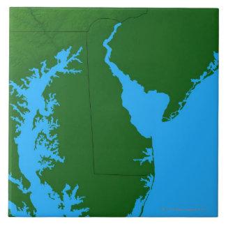 Map of Delaware Ceramic Tile
