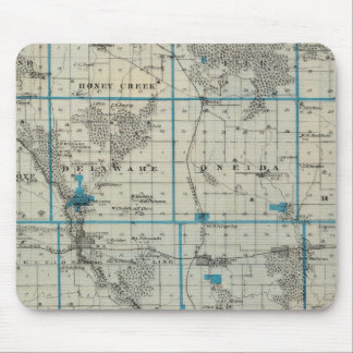Map of Delaware County, State of Iowa Mouse Pad