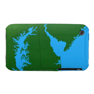 Map of Delaware iPhone 3 Case-Mate Cases