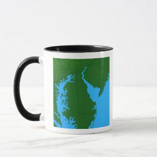 Map of Delaware Mug