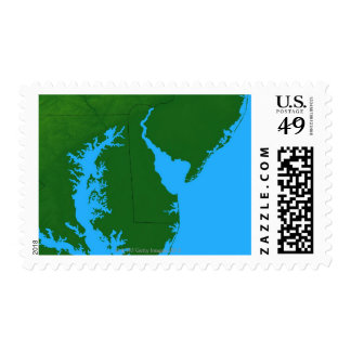 Map of Delaware Postage