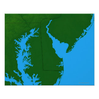 Map of Delaware Poster