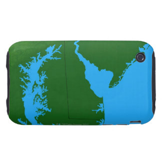 Map of Delaware Tough iPhone 3 Covers