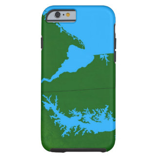 Map of Delaware Tough iPhone 6 Case