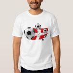 Map of Denmark soccer lovers flag and balls Tee Shirt
