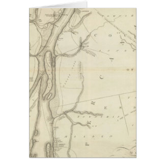 Map of Detroit River Greeting Card