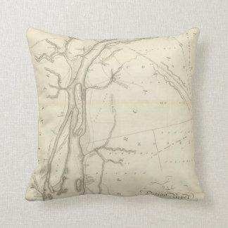 Map of Detroit River Pillow