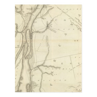 Map of Detroit River Post Card