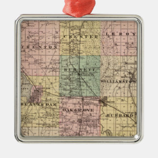 Map of Dodge County, State of Wisconsin Ornaments