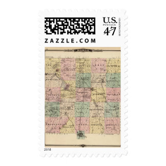 Map of Dodge County, State of Wisconsin Postage