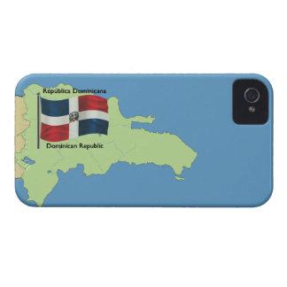 Map of Dominican Republic iPhone 4 Case-Mate Case