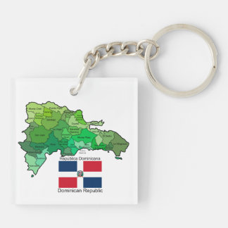 Map of Dominican Republic Keychain