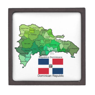 Map of Dominican Republic Premium Jewelry Boxes