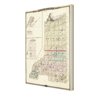 Map of Douglas and Burnett counties Stretched Canvas Print