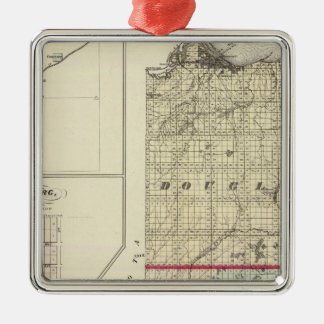 Map of Douglas and Burnett counties Christmas Tree Ornaments