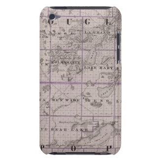 Map of Douglas and Pope Counties Minnesota iPod Touch Case-Mate Case