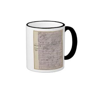 Map of Douglas and Pope Counties, Minnesota Ringer Coffee Mug