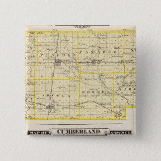 Map of Douglas County Map of Cumberland County Pinback Button