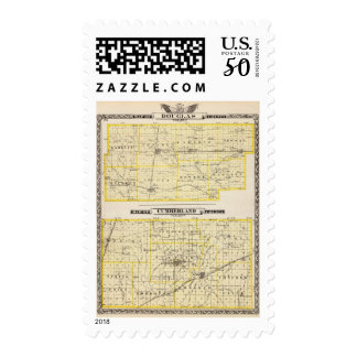 Map of Douglas County Map of Cumberland County Postage