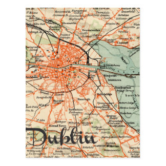 Map of Dublin Postcard