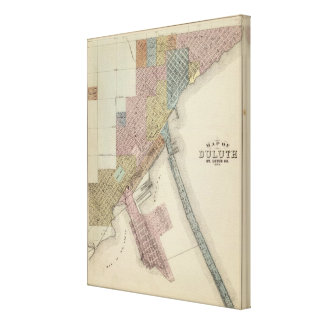 Map of Duluth, St. Louis County, Minnesota Canvas Print
