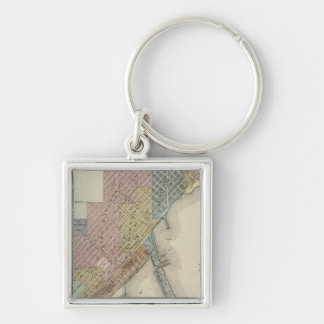 Map of Duluth, St. Louis County, Minnesota Keychain