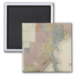 Map of Duluth, St. Louis County, Minnesota Refrigerator Magnets