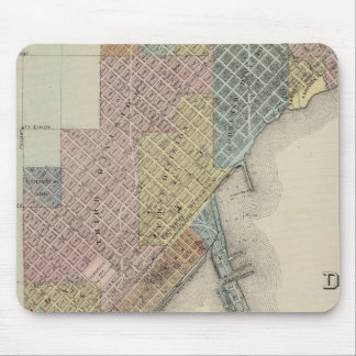 Map of Duluth, St. Louis County, Minnesota Mouse Pad