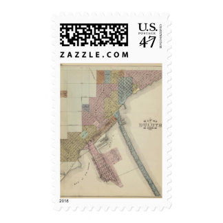 Map of Duluth, St. Louis County, Minnesota Postage