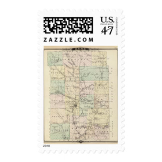 Map of Dunn County, State of Wisconsin Postage