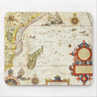Map of East Africa and Madagascar, 1596 (hand colo Mouse Pad