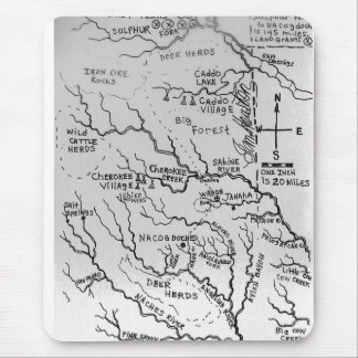 Map of East Texas 1836 Mouse Pad