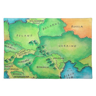 Map of Eastern Europe Cloth Placemat